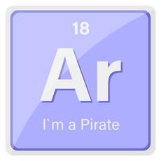 Ar the Element I am Pirate Sticker