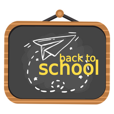 Back to School Black Board Sticker