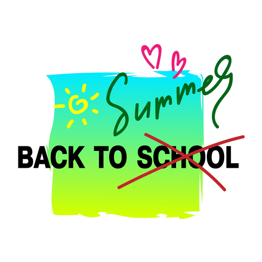 Back to School - Summer Sticker