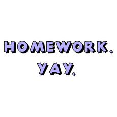 Homework Yay Sticker