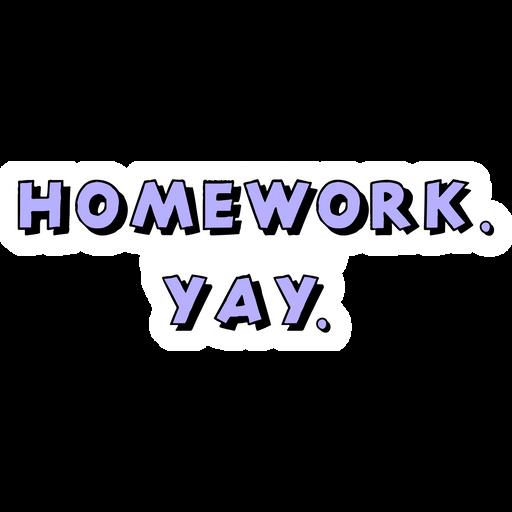 Homework Yay Sticker