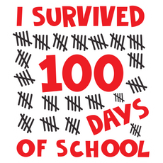 I Survived 100 Days of School Sticker