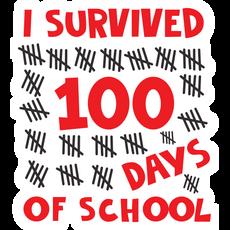 I Survived 100 Days of School Sticker