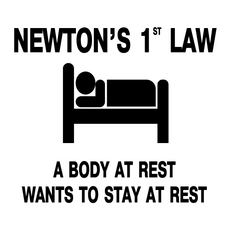 School Newton's 1st Law Sticker