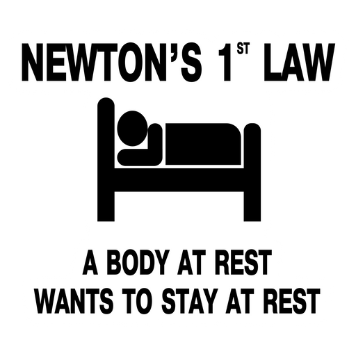 School Newton's 1st Law Sticker
