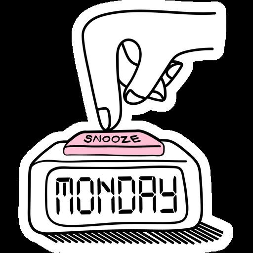 Snooze Monday Sticker
