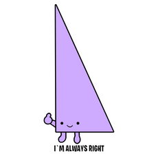 Always Right Triangle Sticker