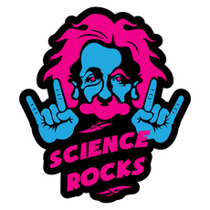 Einstein Science Rocks Sticker