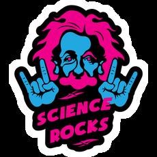 Einstein Science Rocks Sticker