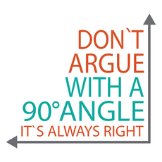 Always Right Angle Sticker