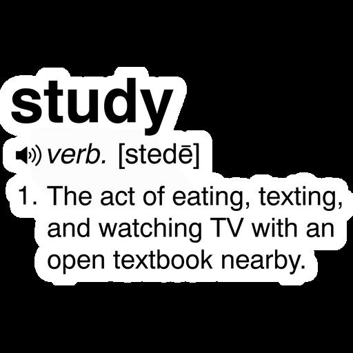 Study Interpretation Sticker