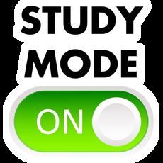 Study Mode ON Sticker