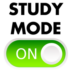 Study Mode ON Sticker
