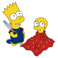 Bart and Lisa Simpson Playing Sticker