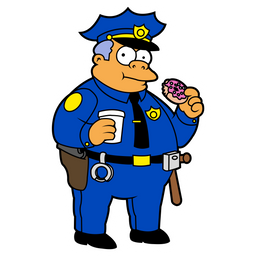 The Simpsons Chief Clancy Wiggum Sticker