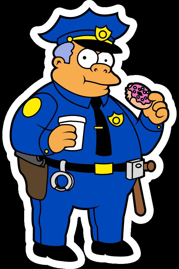 The Simpsons Chief Clancy Wiggum Sticker