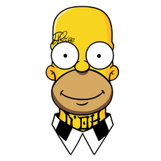 Homer Simpson Gangster Sticker