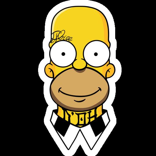 Homer Simpson Gangster Sticker