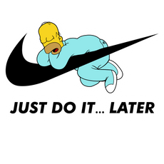Homer Simpson Just Do It Later Sticker