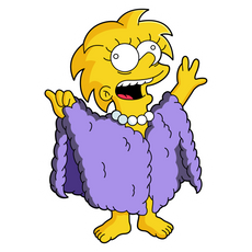 The Simpsons Lizard Queen Lisa Sticker