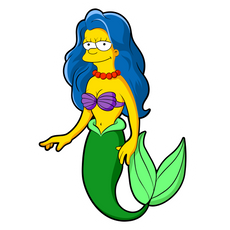 Marge Simpson Ariel Sticker