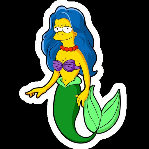 Marge Simpson Ariel Sticker