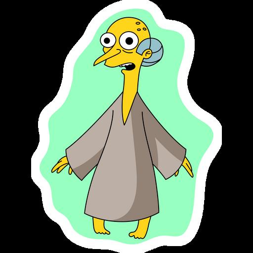 The Simpsons Mr. Burns Alien Sticker