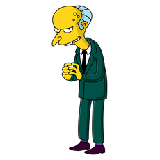 Mr. Burns Sneaky Sticker