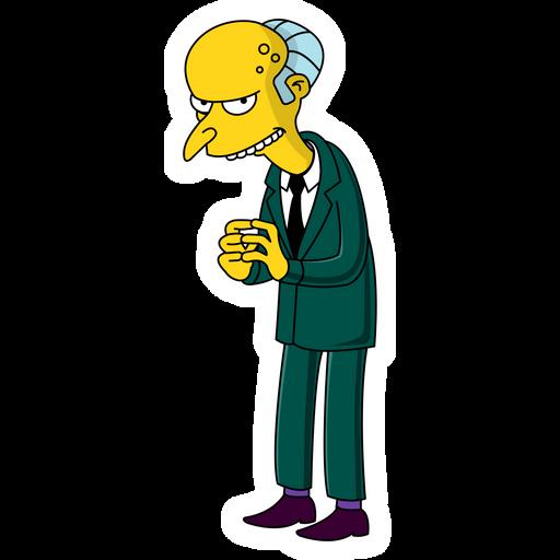 Mr. Burns Sneaky Sticker