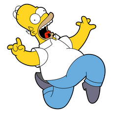 Running Homer Simpson Sticker