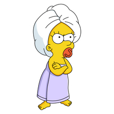 The Simpsons Angry Maggie Sticker