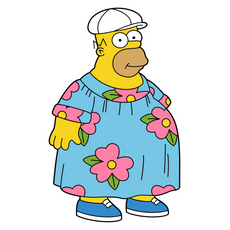 The Simpsons Fat Homer Sticker