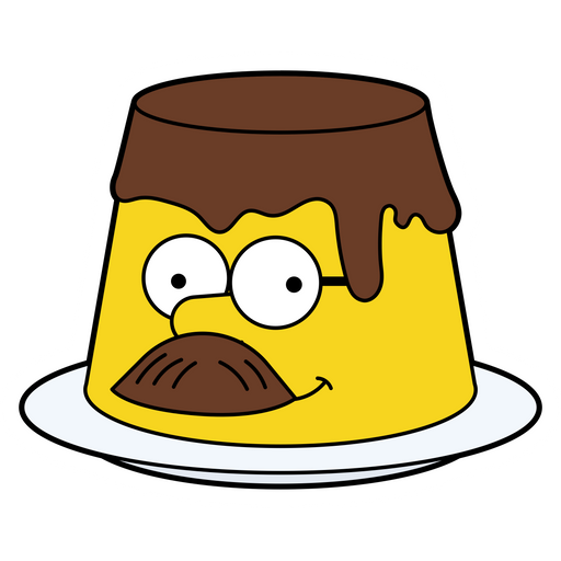 The Simpsons Ned Flanders Cake Sticker