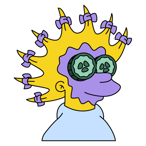 The Simpsons Lisa with Face Mask Sticker