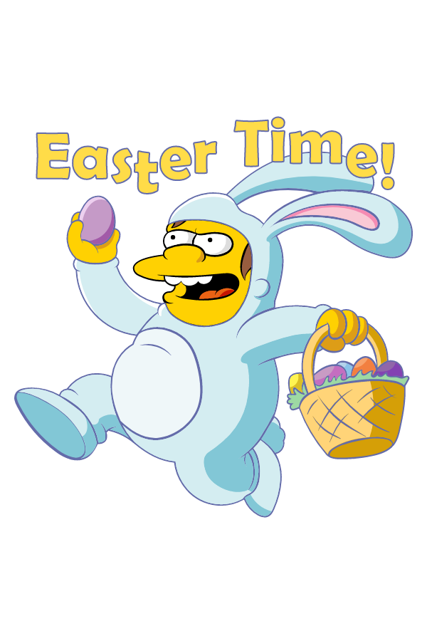 The Simpsons Nelson Easter Time Sticker