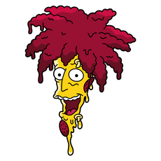 The Simpsons Sideshow Bob Pizza Sticker