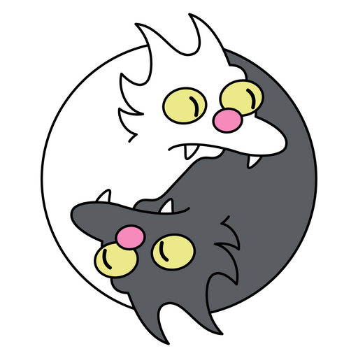 The Simpsons Snowball I and II Yin Yang Sticker