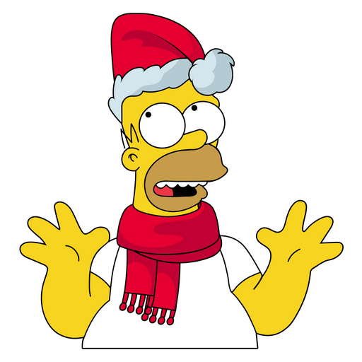 The Simpsons Christmas Sticker