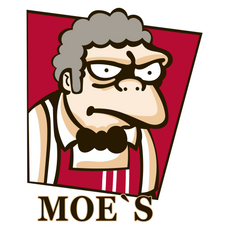 The Simpsons Moe's KFC Logo Sticker