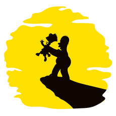 The Simpsons Lion King Sticker