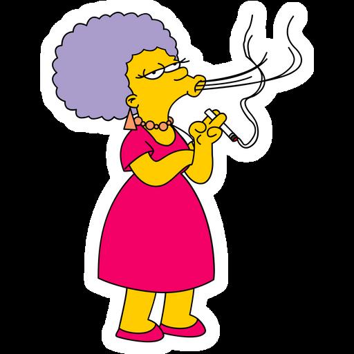 The Simpsons Patty Sticker