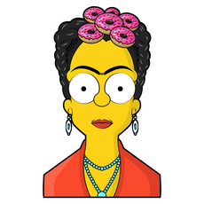 The Simpsons Frida Kahlo Sticker