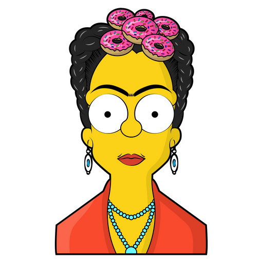 The Simpsons Frida Kahlo Sticker
