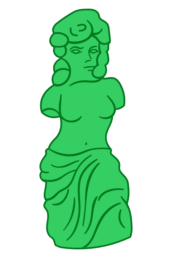 The Simpsons Gummi Venus de Milo Sticker