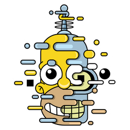 The Simpsons Homer Bender Sticker