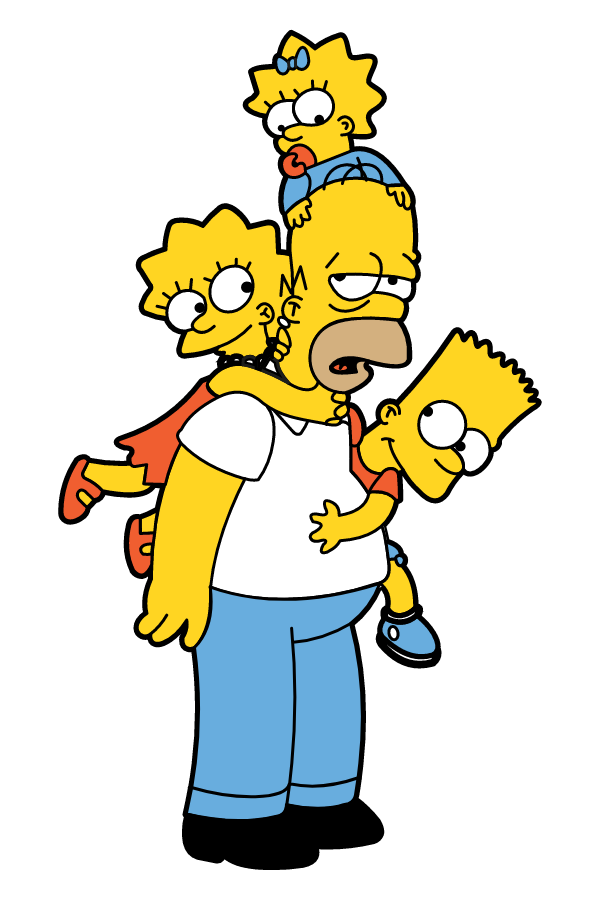 The Simpsons Homer Number 1 Dad Sticker