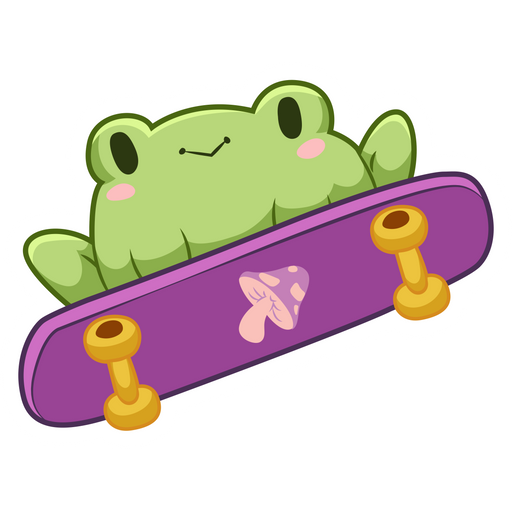 Frog on Skateboard Sticker