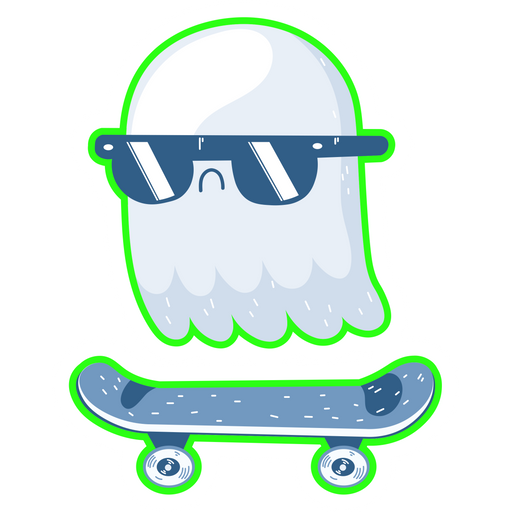 Ghost Skateboarding Sticker