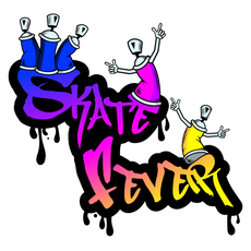Graffiti Skate Fever Sticker