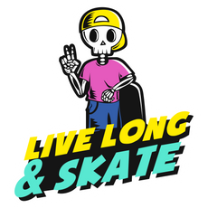 Live Long and Skate Sticker